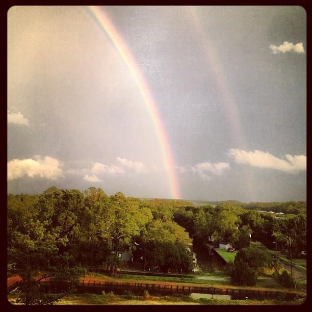Glowing Double Rainbow