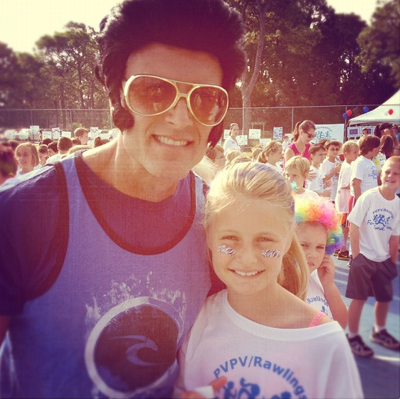 """Rockin' the PVPV Fund Run: Kaelyn and """"The King"""". TCB, baby!"""