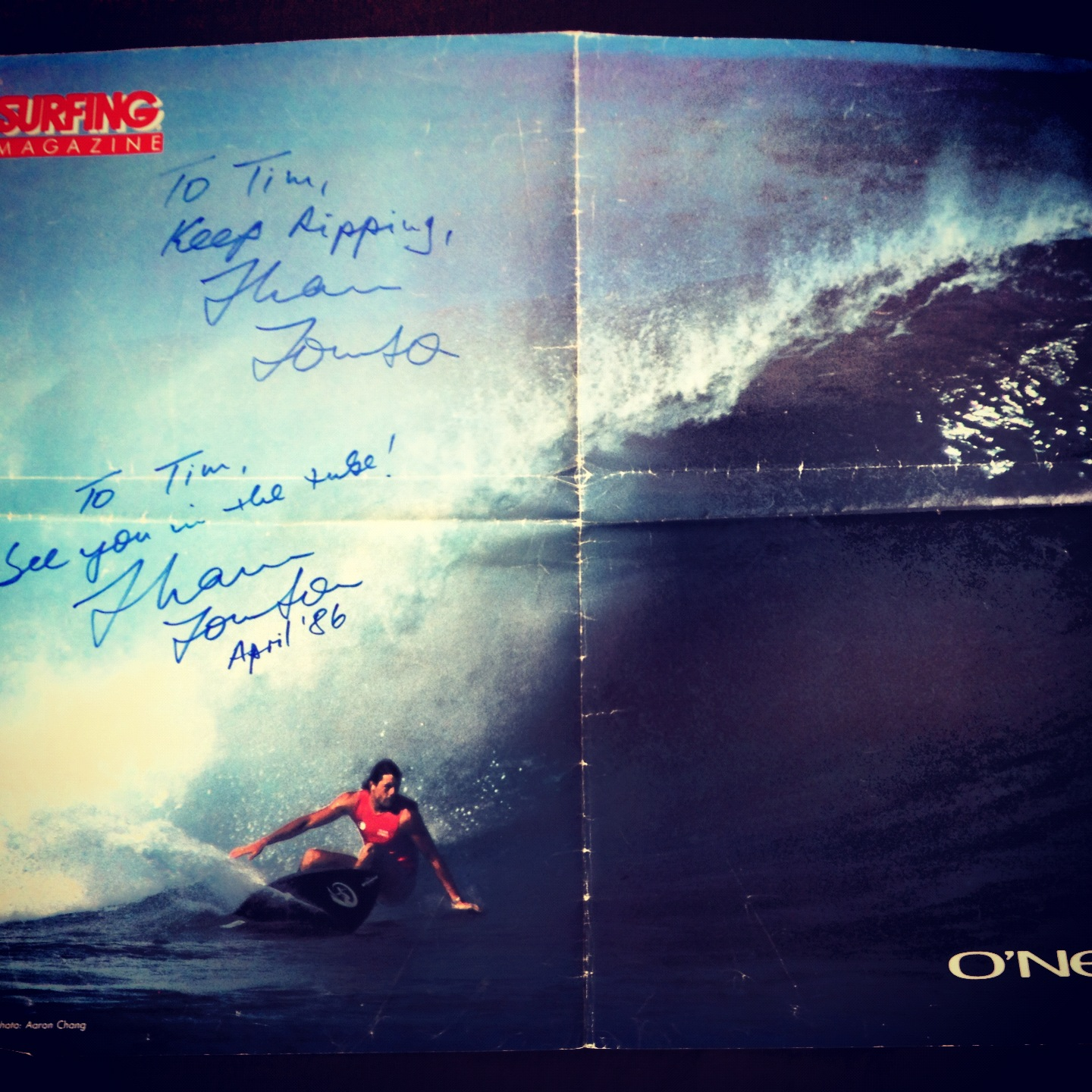 Shaun Tomson - Signed in 1982 & 1986