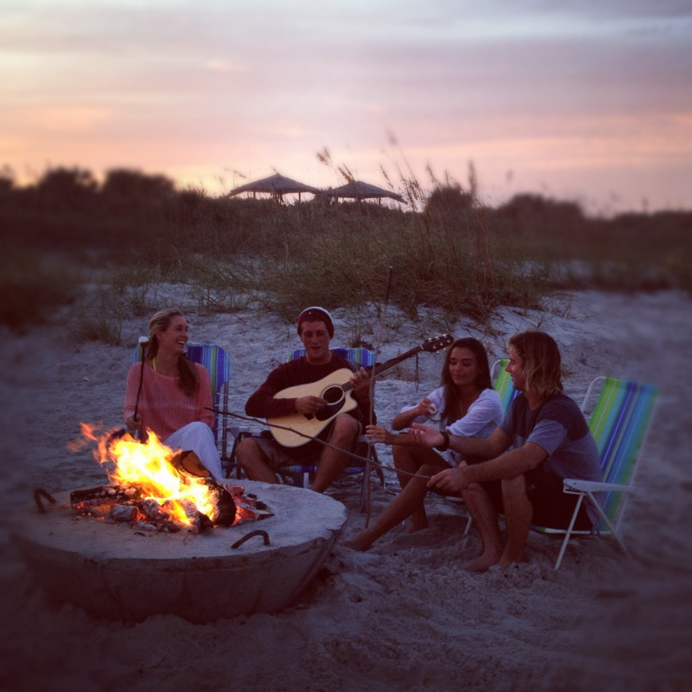 Cool: Public Beach Firepits on New Smyrna Beach