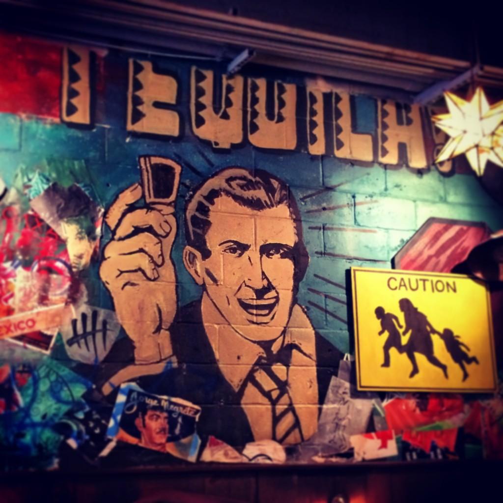 Wall murals at El Taco in Atlanta, GA