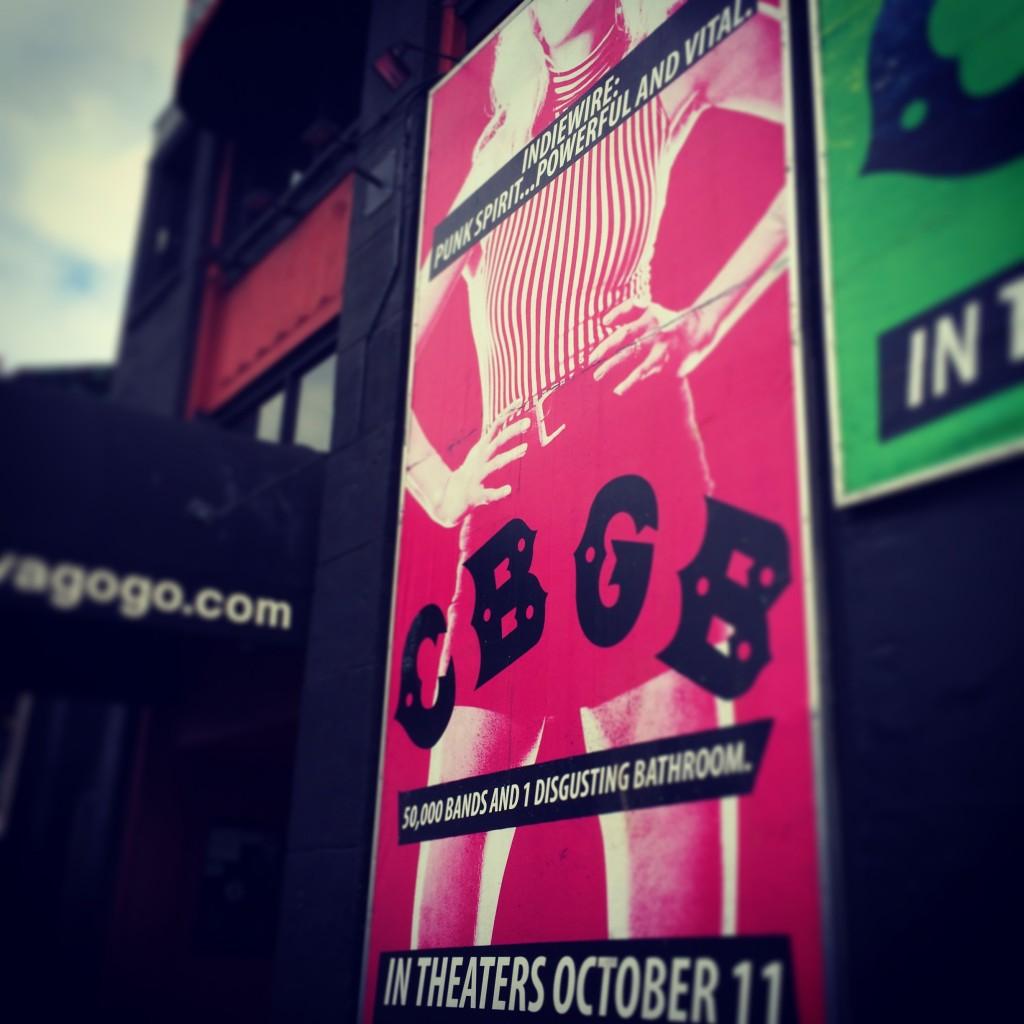 CBGB movie wall mural at Whiskyagogo