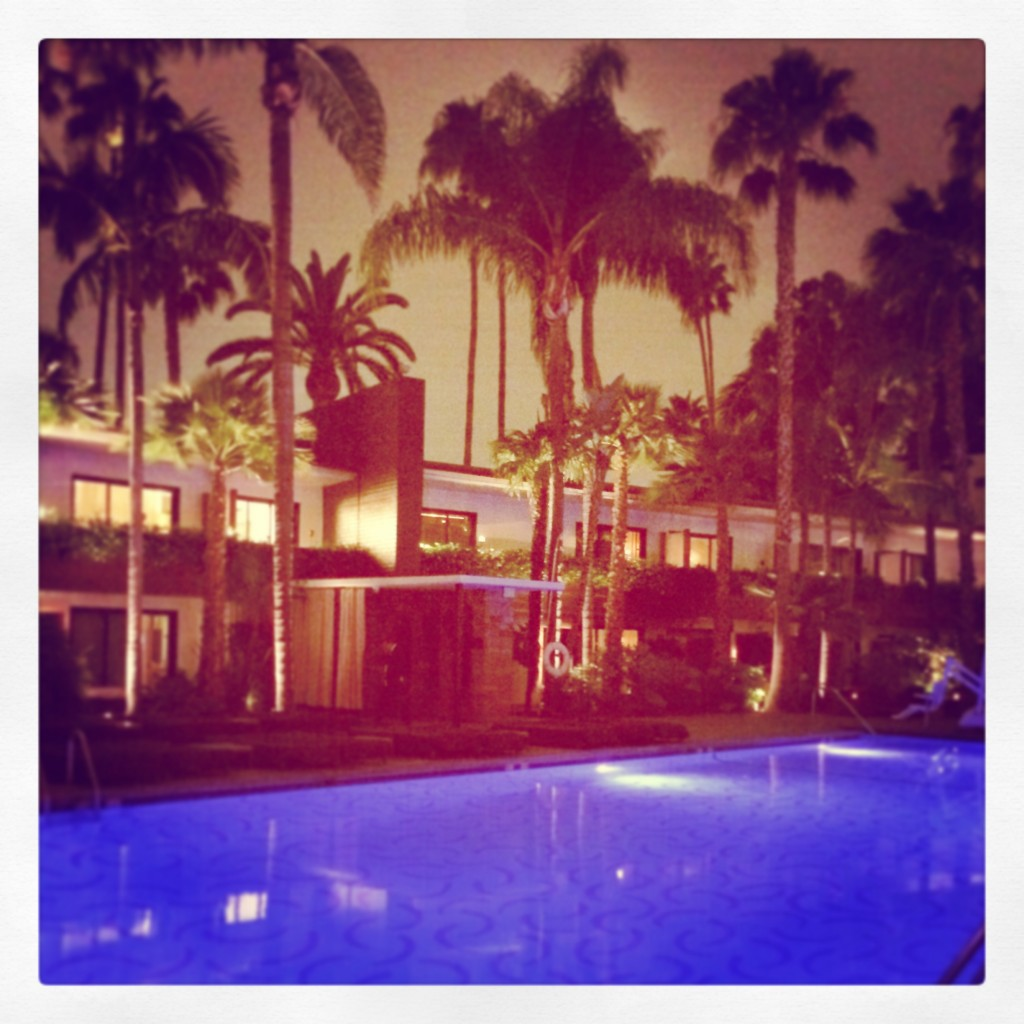 Hollywood Noir- Hockney Pool at the Roosevelt