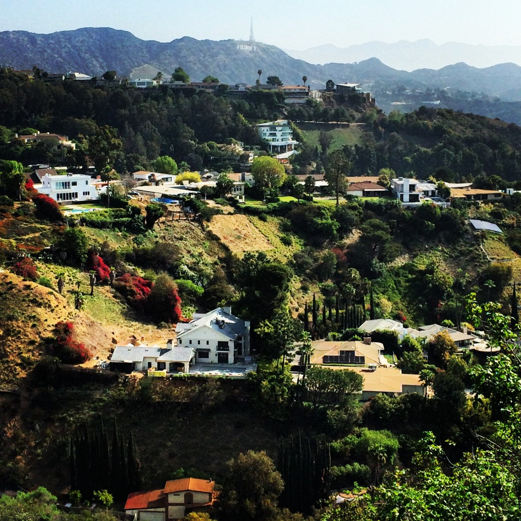 Hollywood Hills, as seen from Runyon Canyon