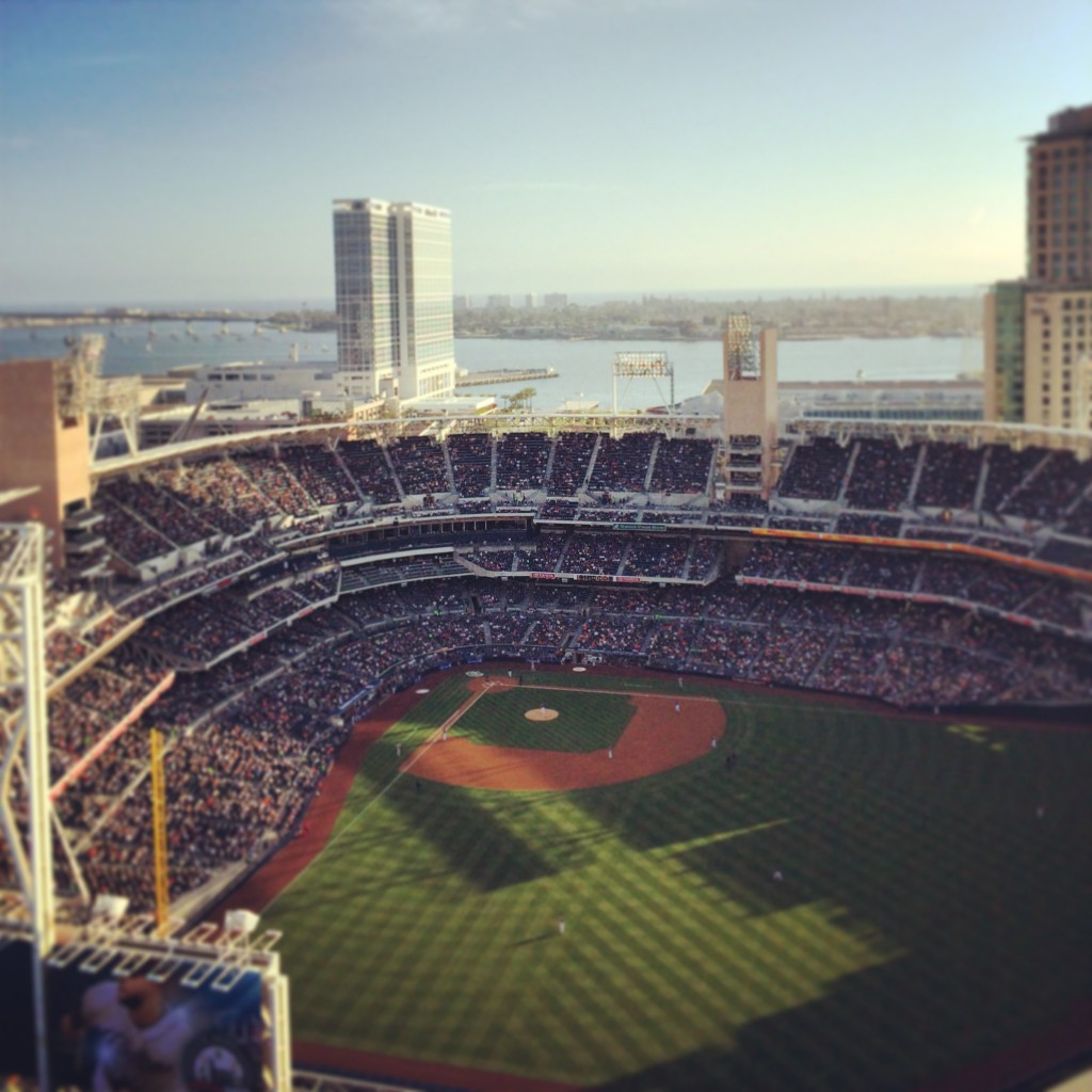 "The view from ""Skybox"" overlooking Petco Park"