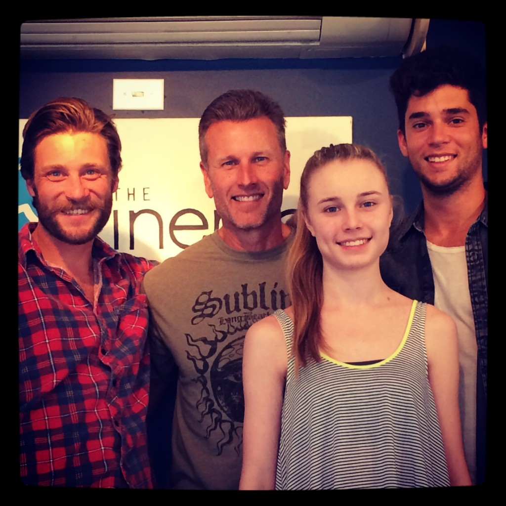 Tim and Kendall with Alex Haro and Reid Levin at The Inertia's new offices in Venice, CA