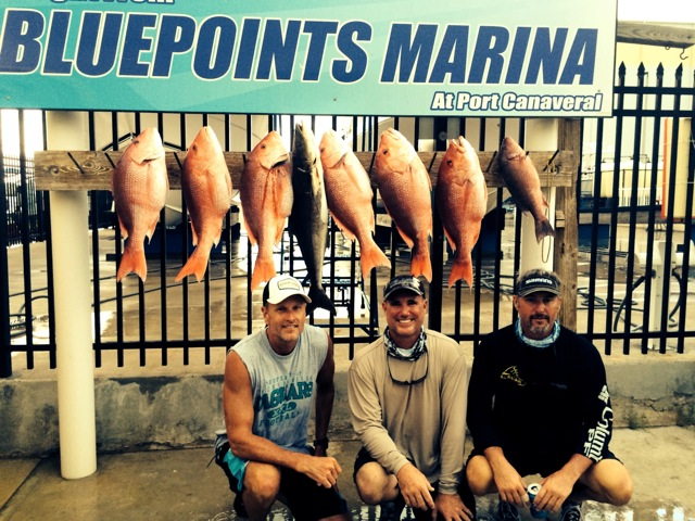 Bluepoints Marina Red Snapper catch