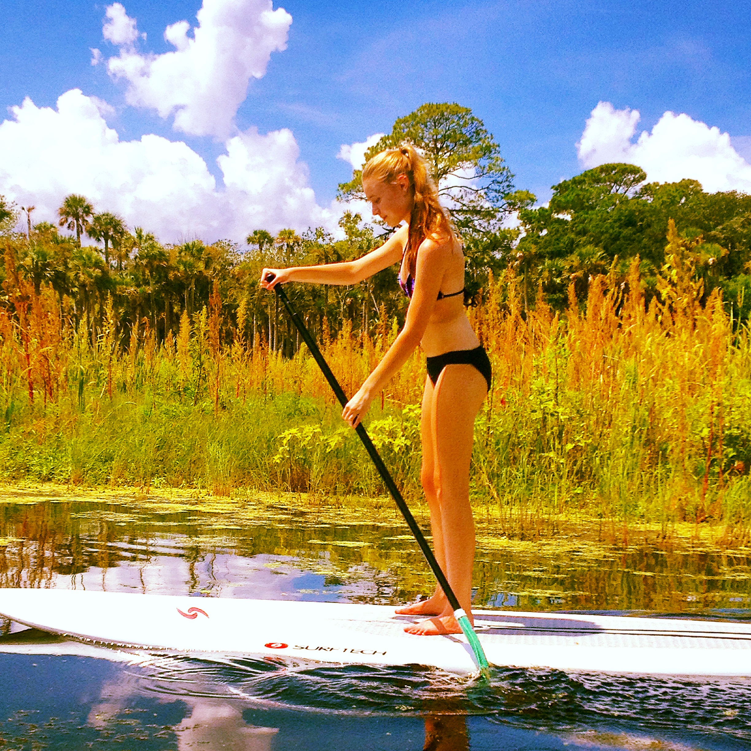 Stand-up Paddelboading in Guana State Park