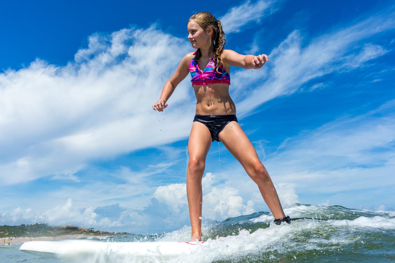 Surfer Girl Close-up
