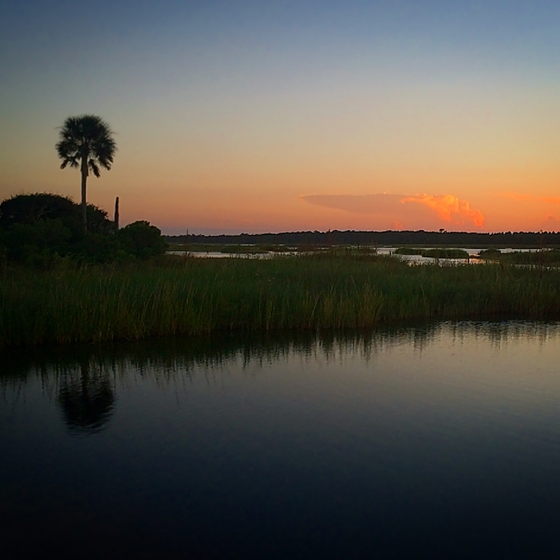 Guana River State Park at sunset