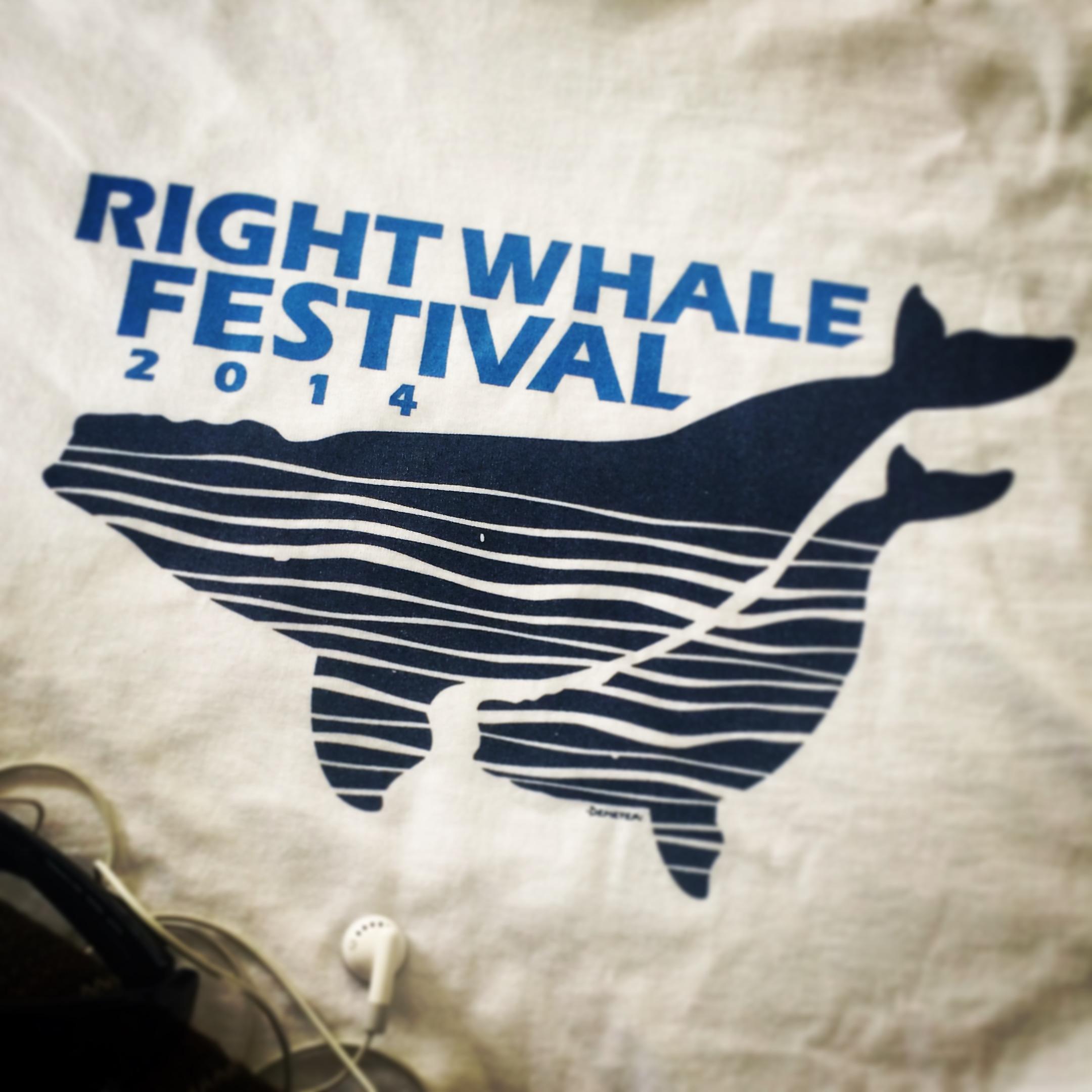 Right Whale Festival 2014 t-shirt artwork