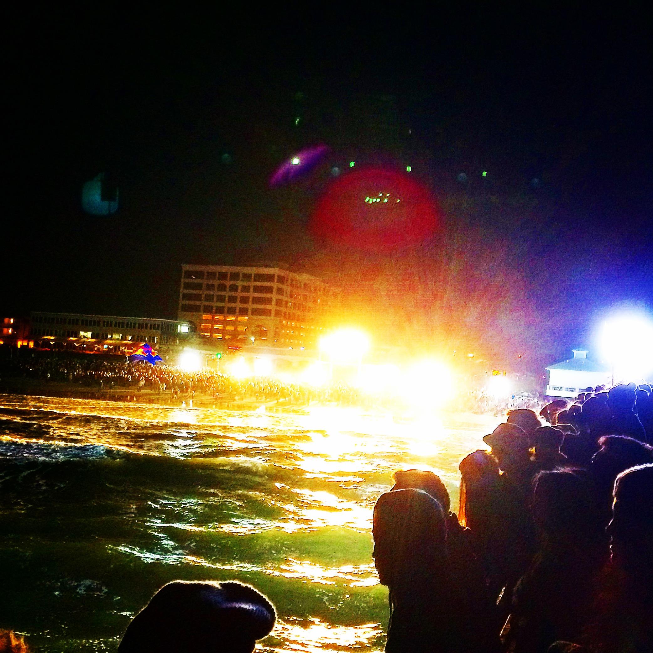 Scene from the Red Bull Night Riders Contest Jax Beach