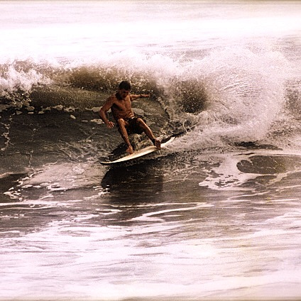 Surfing in Guana State Park