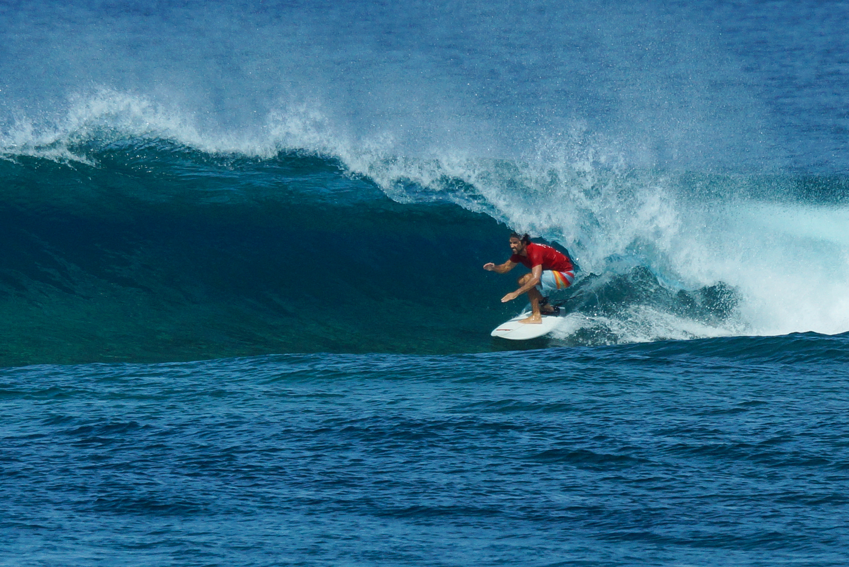 Surfer Bryan Pohlman in the Maldives