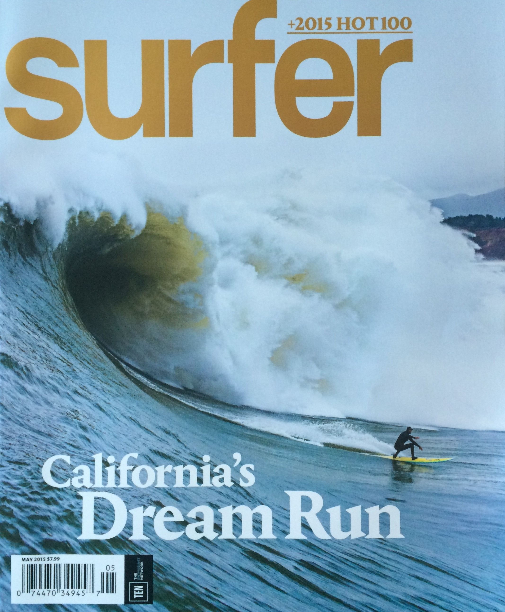 Hey, that's (not) me on the cover of SURFER! No worries, though, I'm on the inside.