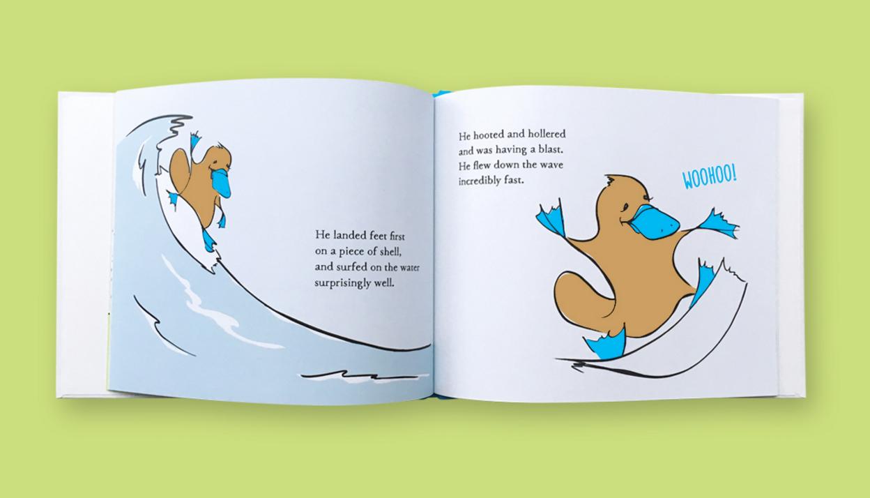 Radimus Platypus surfing
