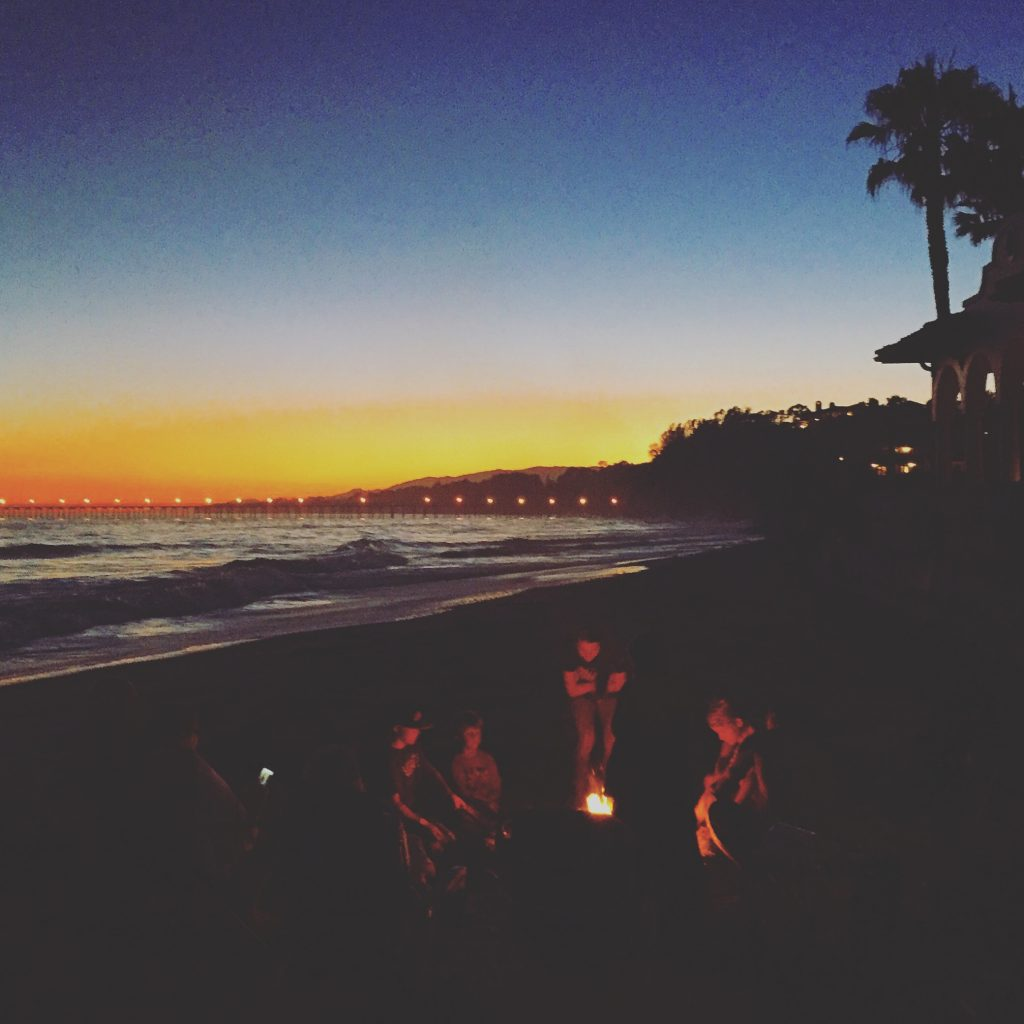 Beach Bonfire, Santa Barbara