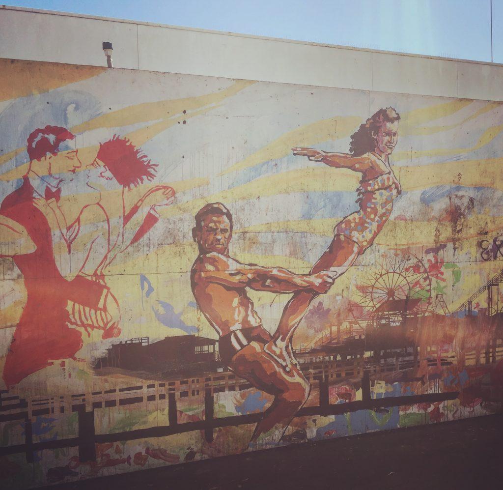 surf art, Pacific Park, Santa Monica Pier, CA