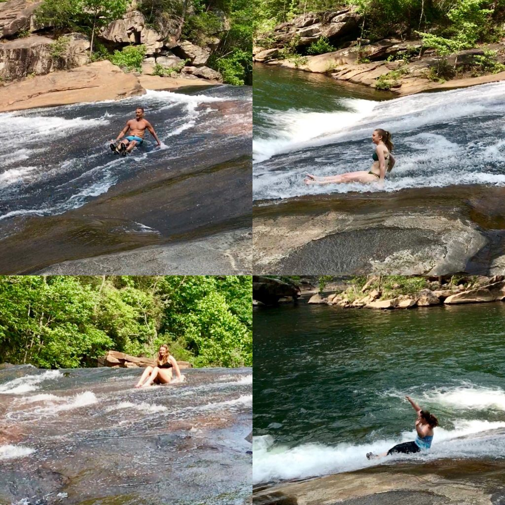 Rock Sliding in Tallulah Gorge State Park
