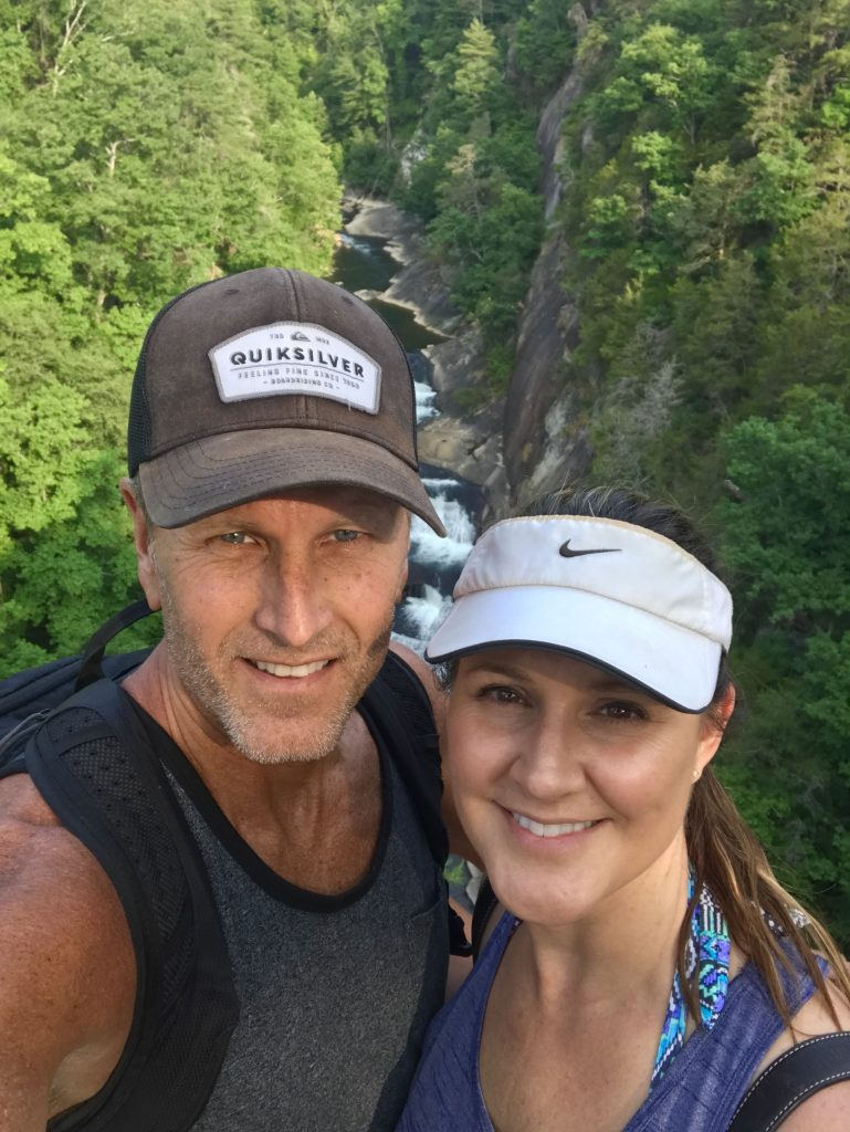 Couple - selfie in Tallulah Gorge