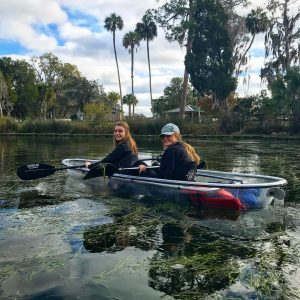 Young people kayaking
