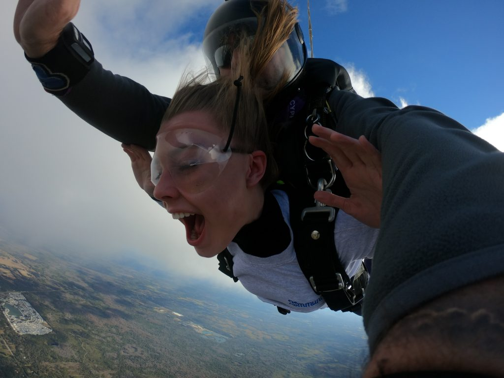 First time jumping from an airplane