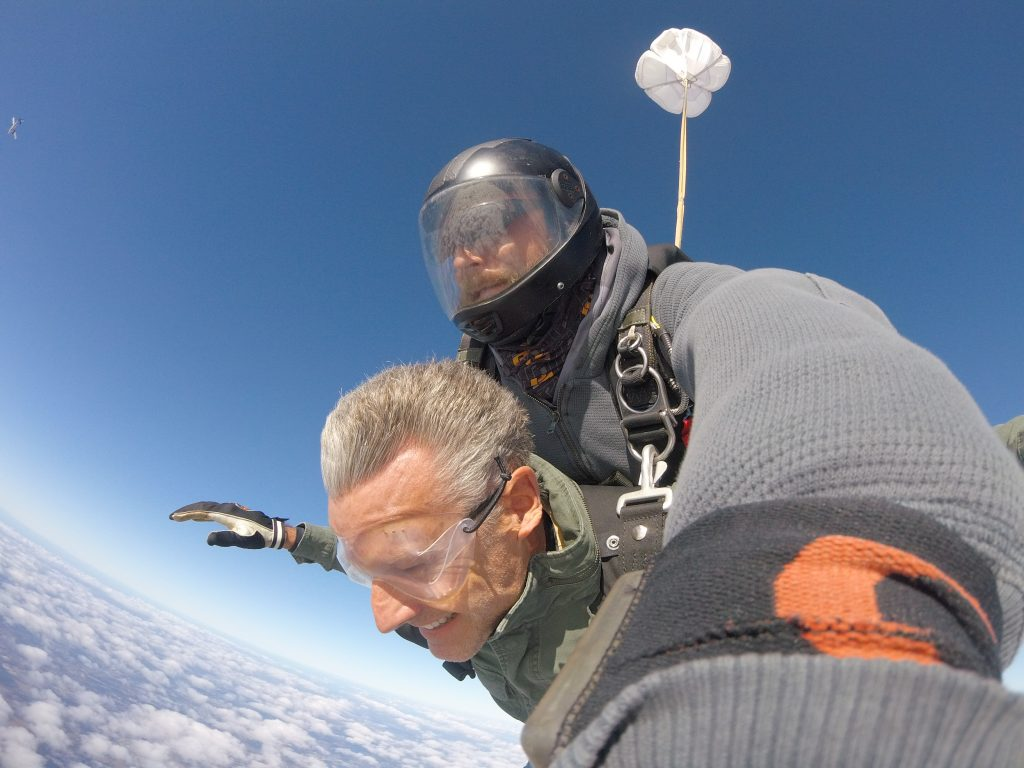 Freefalling for over a minute - Tandem skydiving at Skydive City in Zephyrhills, FL